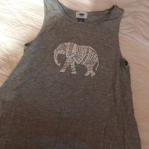Old Navy Elephant Graphic Tank (S)
